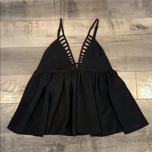 Triangle babydoll top